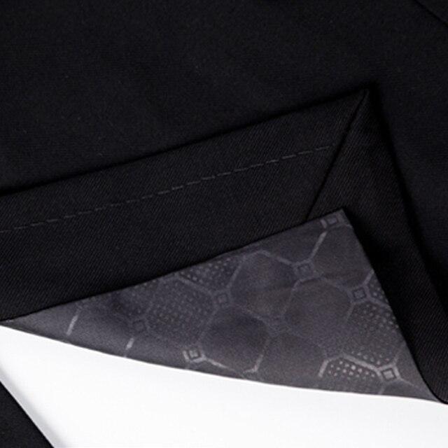 (Jacket+Pant+Tie) Luxury Men Wedding Suit Male Blazers Slim Fit Suits For Men Costume Business Formal Party Blue Classic Black 4