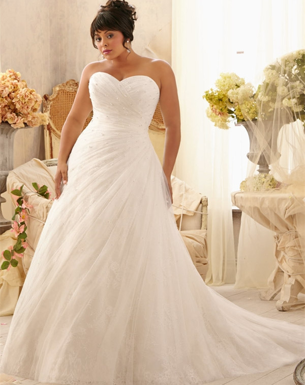 2017 hot sale fashion romantic sexy plus size wedding for Sexy plus size wedding dresses