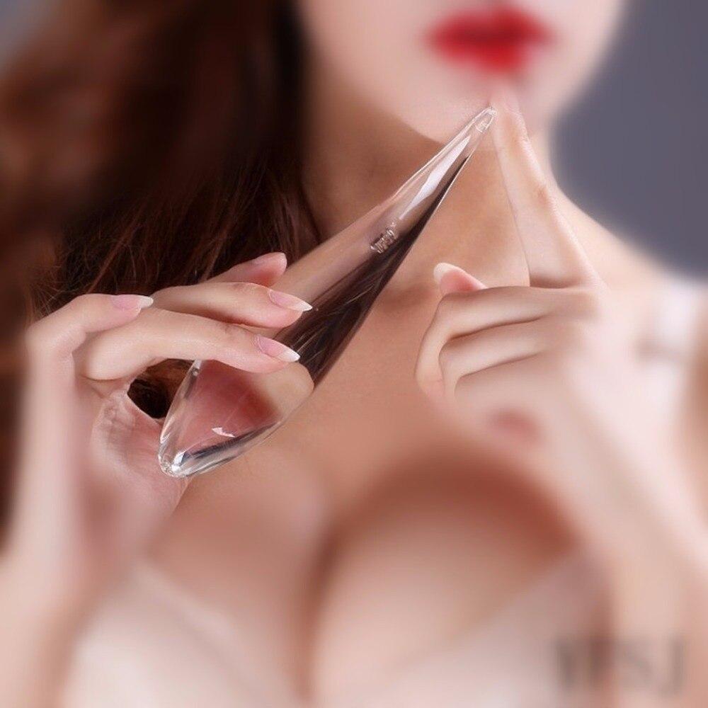 180*39mm godes en verre pénis Anal perle godemichet Anal, stimulateur Vaginal Anus, Fetis produits sexuels jouets adultes pour femmes-AC5