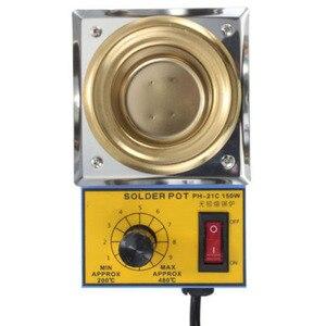 Image 4 - Temperature Controlled  Solder Pot Soldering Desoldering Bath Tin Melting Plate Tin Cans 50mm 220V 150W