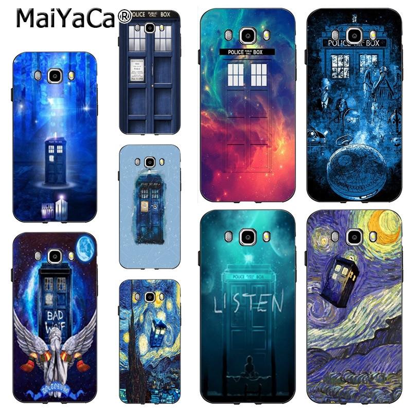 2015 Selfless Maiyaca Tardis Box Doctor Who Diy Colorful Printing Drawing Phone Case For Samsung J5 J120 J3 J7 Note 3 Note4 Note5 Case