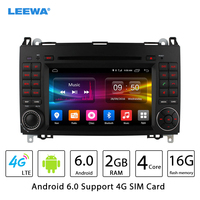 7 Android 6.0 (64bit) DDR3 2G/16G/4G LTE Car DVD GPS Radio Head Unit For Mercedes Benz A Class W169/B Class W245(2004~2012)