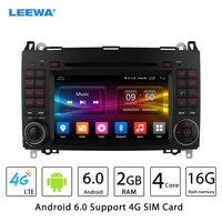 7 Android 6.0 (64bit) DDR3 2G/16G/4G LTE Car DVD GPS Radio Head Unit For Mercedes Benz A Class W169/B Class W245(2004~2012)