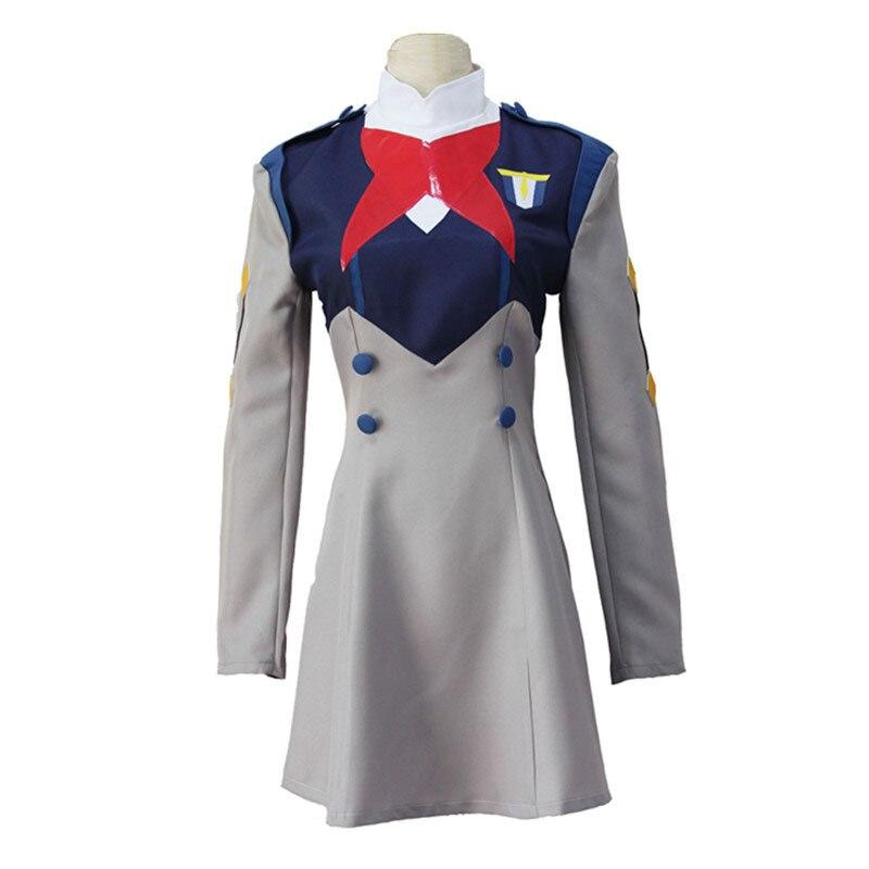 Anime DARLING in the FRANXX ICHIGO MIKU Women Uniform Cosplay Costume CODE 015 Halloween Party Dress