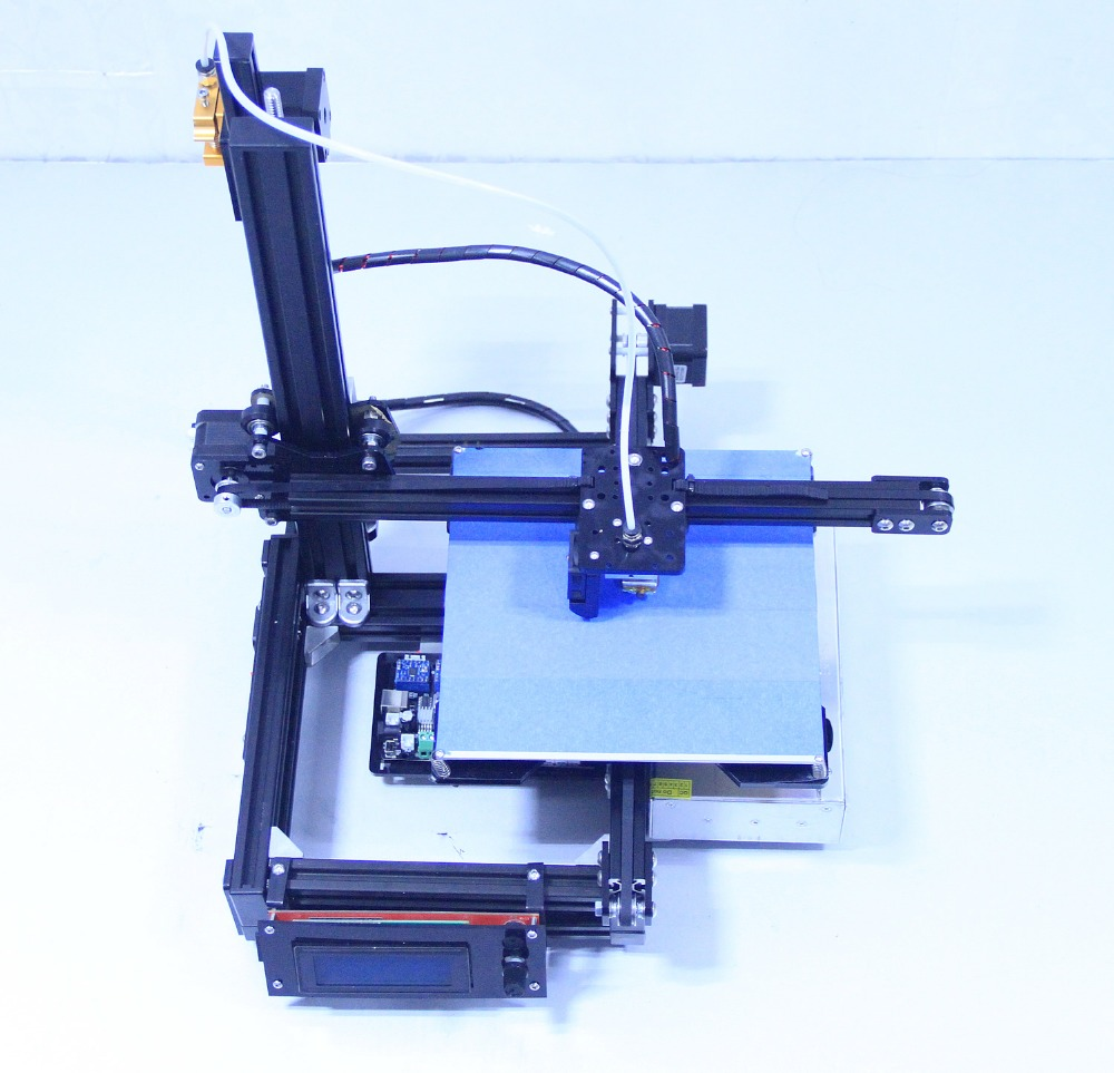 2018 DIY big print size 3D printer black with LCD and SD card 200 200 300 E3D extruder 0.1 mm 3D printer kit stenders 3d 200