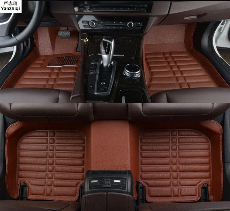 Leather car floor mats for Audi Q7 2006 2007 2014 2015 2016 2017 2018 car styling Custom car mat
