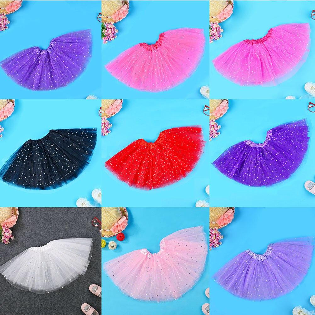 Hot Baby Kids Girls Princess Stars Sequins Party Dance Ballet Tutu Skirts Enfant Children Kid Girl Clothing Skirt