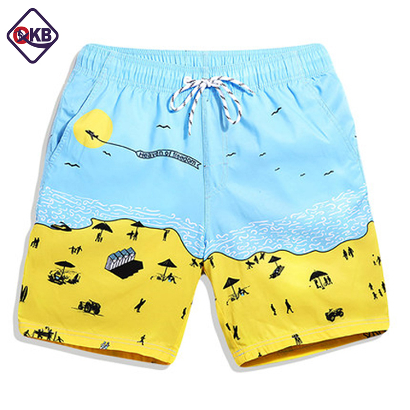 QIKERBONG Male beach shorts Quick Drying Men shorts Casual Swimwear Swimsuit boardshorts men Board Active New shorts bermuda