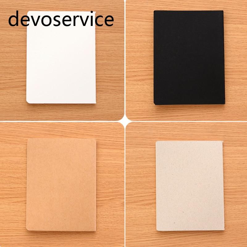 DIY A6 Do Vintage Kraft Papel Notebook Com Papel Em Branco Esboço Criativo Preto Marrom Caderno Do Livro Dos Miúdos Presente Papelaria Coreano