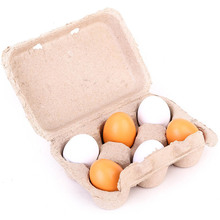 Newest Arrivals  Boxed Simulation 6PCS Eggs Yolk Pretend Play Kitchen Food Cooking Kids Children Baby Toy Funny Gift