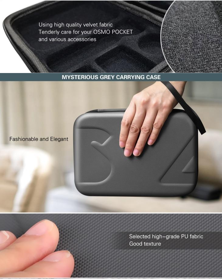 Sunnylife DJI Osmo Pocket Bag Handheld Gimbal Camera Stabilizer Box Carry Portable Case for DJI Osmo Pocket Gimbal Accessories 4