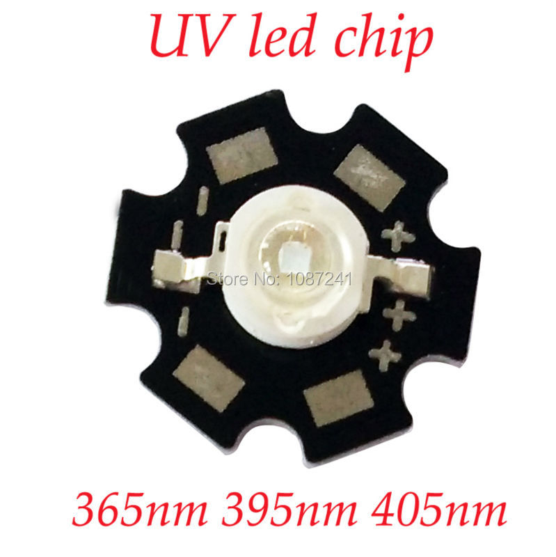 Hotsale 1W 3W UV High Power LED Chip SMD Light Beads Ultra Violet 365nm 385nm 395nm 400nm 405nm <font><b>420nm</b></font> led beads image