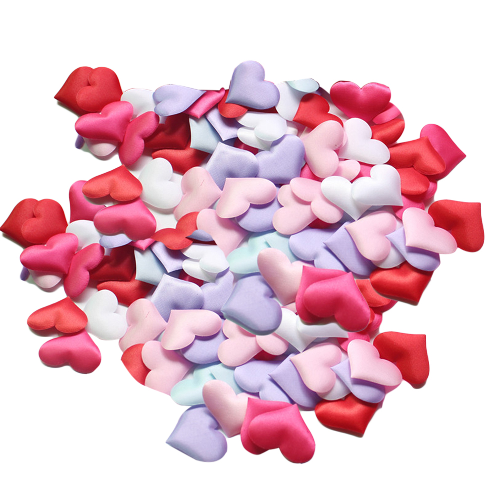 200pcs Artificial Romantic Love Heart Petals Bridal Shower Throwing Flowers Party Wedding Bed Decoration