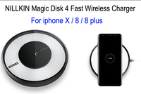 For Apple iphone 8 Wireless charging QI standard NILLKIN Magic Disk 4 iphone8 Fast Wireless Charger CE FCC PSE certification