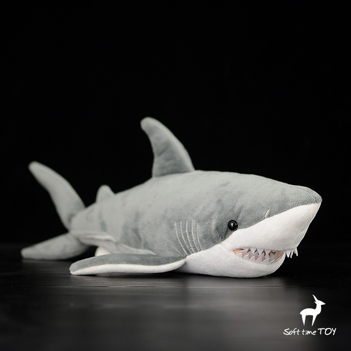 Plush Great Shark Doll Simulation Animal Toys Children Gifts Pillow Cute Soft Big Toy easyway sea life gray shark great white shark simulation animal model action figures toys educational collection gift for kids