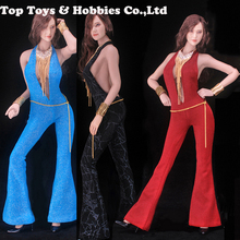 Feeltoys FT010 Girls x Desperado 1/6 Vintage Disco Coveralls Cloth For 12 Female TBLeague large bust Seamless Body