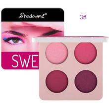 New Dark Blue Wine Red Eyeshadow 4 Colors Waterproof Eye Shadow Makeup Metallic Luminous Shades Pallete