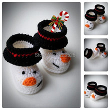 Cute Snowman Baby Booties Crochet Shoes Baby Shoes Newborn and infant crochet Booties Boots for babies