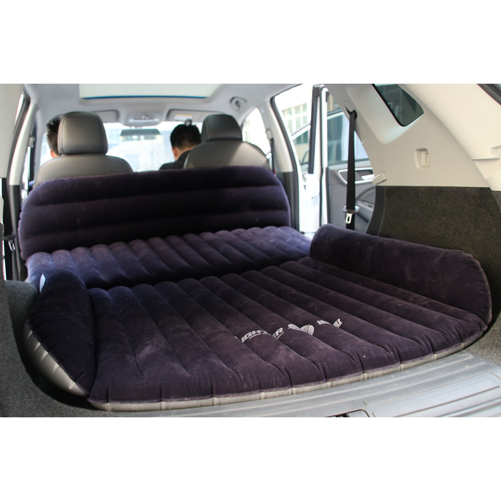 Universal SUV Car Air Inflation Mattress Bed Auto Back Seat Cover Drive Travel Car Inflatable Bed Wave Design With Air Pump universal auto back seat cover car air inflation mattress bed drive travel car inflatable bed wave design with air pump