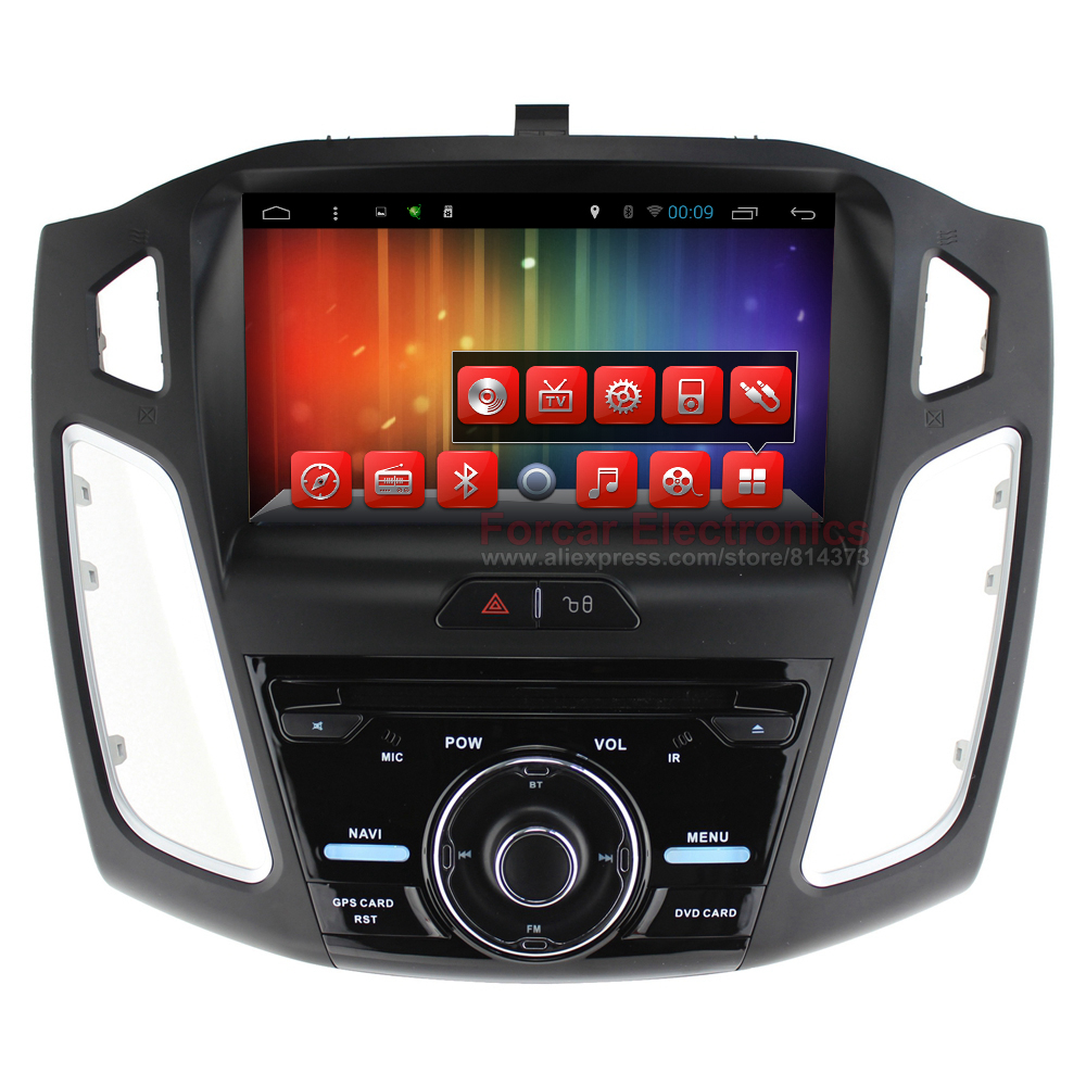 9'' Quad core 1024X600 Android Car DVD GPS for Ford Focus 2011-2015 with BT RDS Mirrior-Link Wifi 3G host Free 8GB Map card