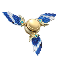 With Launcher Spinner Metal Game Feather Toys For Children Spinning Top Spinners Toy Finger  Toys Sale цены