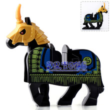 20PCS/LOT The Lord of the Rings Building Blocks Medieval Rome Castle Knights Horse Wolf Battle Steed Toys for Children X0158