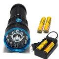 30000 люмен Супер Яркий LED ламповой 12 x CREE XM-L T6 XML T6 12T6 LED Фонарик Охота Факел + 4*18650 аккумулятор + Зарядное Устройство