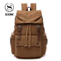 Korean Solid Canvas Laptop Backpack For Men Women A++ Grade Solid Waterproof Best Laptop Backpacks mochila Backpage Rucksack