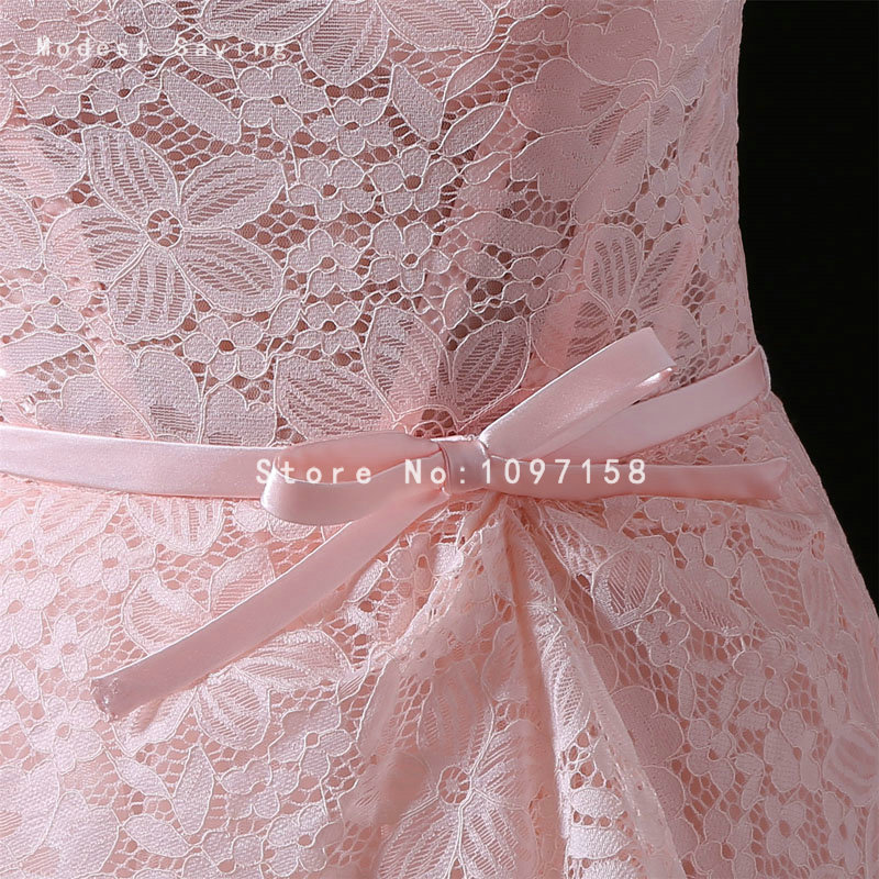 Sexy Sheer Pink A Line Lace Cover Evening Dresses 2017 Formal Women ...