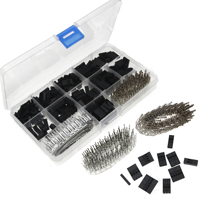 620pcs Dupont Wire Cable Jumper Pin Header Connector Housing Kit Male Crimp Pins+Female Pin Connector Terminal Pitch With Box 620pcs dupont wire cable jumper pin header connector housing kit male crimp pins female pin connector terminal pitch with box