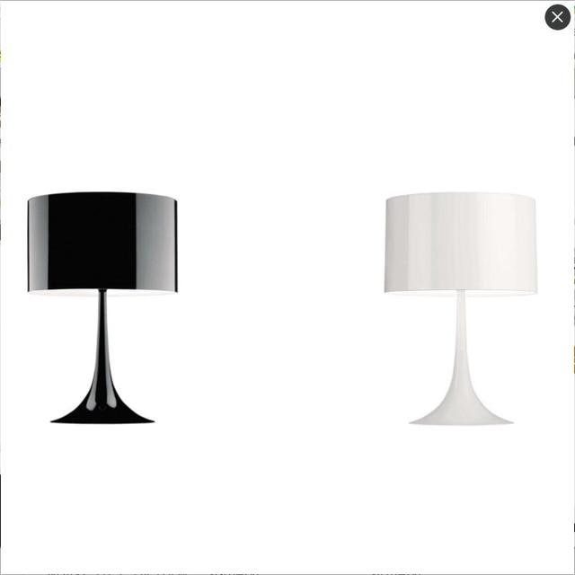 Modern Lamp On The Table Desk White Black Study E27 Night Lighting Bedside