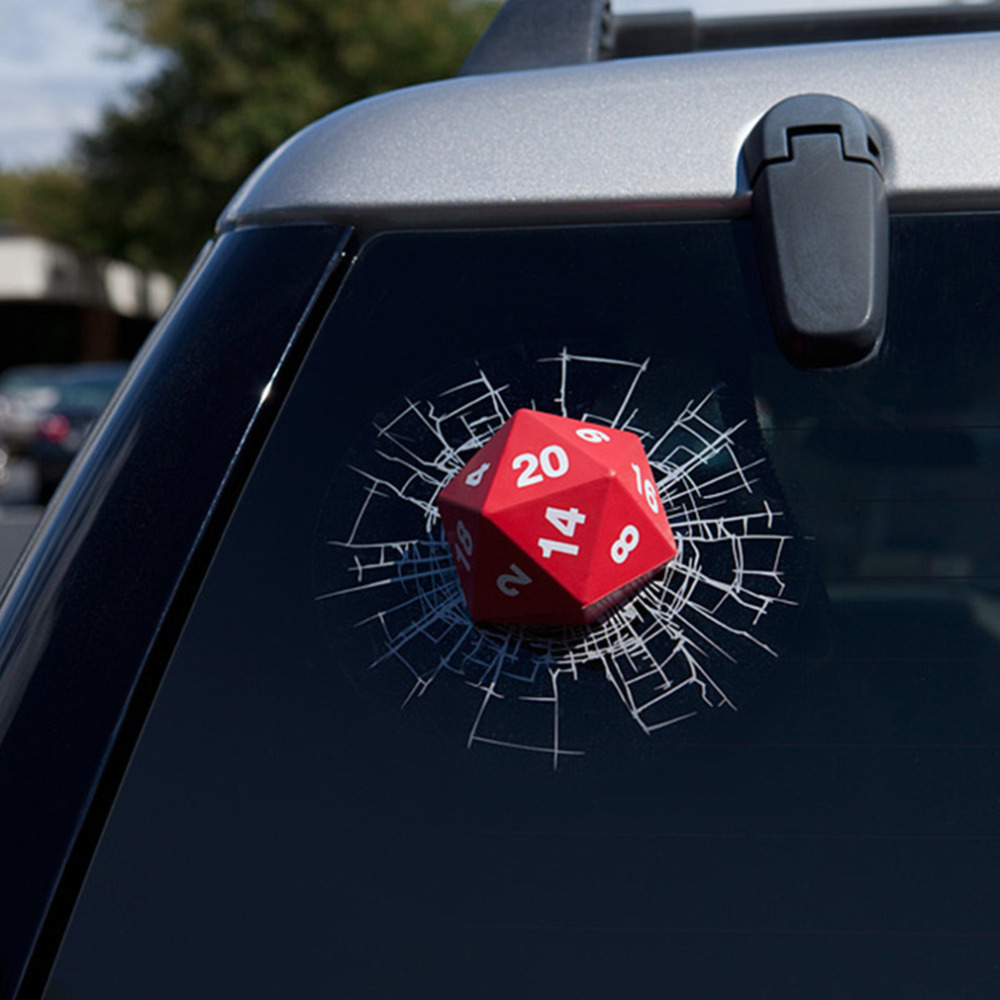Car glass sticker design - Online Shop 1pc Novelty 3d D20 Dice Solid Vinyl Car Glass Sticker And Decal On Car For Window Front Rear Windshield Car Styling Accessories Aliexpress