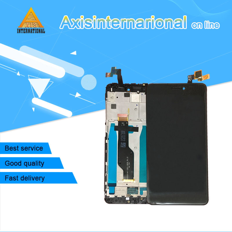 Original For 5.5 Xiaomi redmi note 4X note 4 Global Version Snapdragon 625 LCD screen display+ touch digitizer with frame