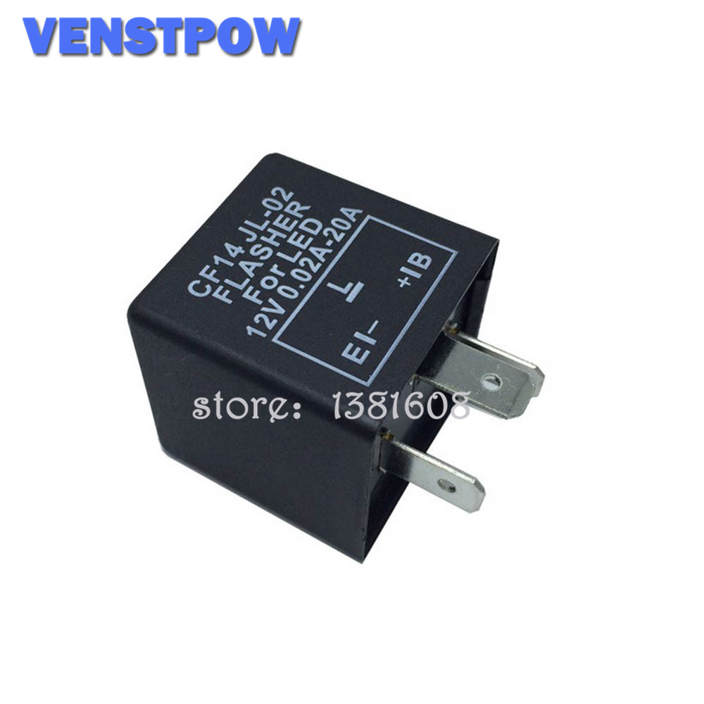 3 Pin CF14 JL-02 Electronic Car Flasher Relay To Fix LED Light Turn Signal Hyper Flash Blinking Light 12V DC