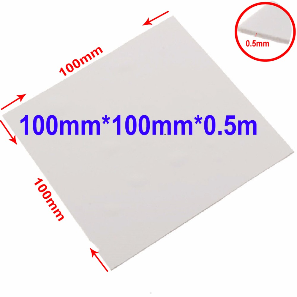 High Performance Gap Filler 100mmx100mmx0.5mm GPU CPU Heatsink Cooling Thermal Conductive Silicone Pad 1.2w/m-K 300x300x0 025mm high heat conducting graphite sheets flexible graphite paper thermal dissipation graphene for cpu gpu vga