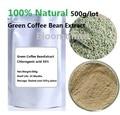 Free shipping 17.64 oz  500g/lot 100% Natural Green Coffee Bean Extract Chlorogenic acid 50% HPLC powder