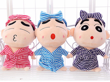 1PC 35cm cartoon bathrobe headband Crayon Shin-chan plush hold doll creative stuffed toy children Valentine's Day girl gift
