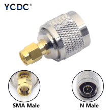 цена 1/2/4 Pcs Gold Plated Brass SMA Male To N Type Male Adapter Coaxial Cable Antenna Radio Wire Connector Straight 1.25 Long