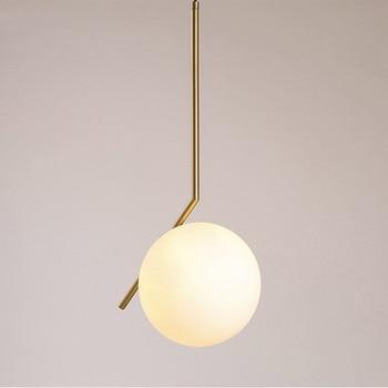 Style moderne or métal salle à manger suspension lumière laiteux verre café/Bar/chambre lumière AC90-265V livraison gratuite