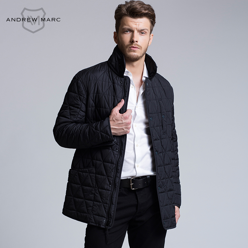 ANDREW MARC MNY 2016 Men Slim Casual Parkas Cotton Jacket Coat New Style Ultralight Comfortable Autumn Overcoat S-XXL TM6AC141 marc new york andrew marc new white women s size 10 seamed sheath dress $138