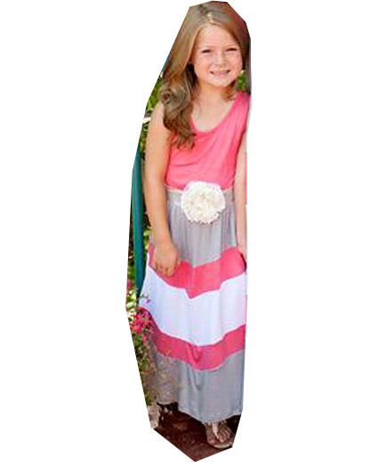 0a7f9e0f65dbe US $10.2 13% OFF|2017 Summer Maxi Dress Girl Striped Family Matching Mother  Daughter Dresses Women Sleeveless Patchwork Floor Length Vestidos-in ...