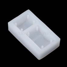 Rectangle Silicone DIY Mold Bracelet Pendant Jewellery Making Mould Resin Hole(China)