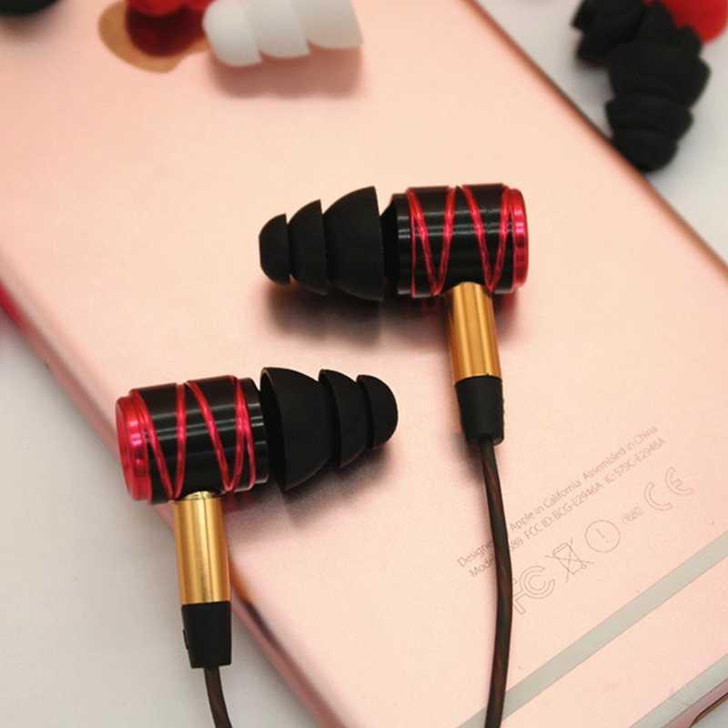3 أزواج (S/M/L) 3-طبقة سيليكون في الأذن سماعة يغطي قبعات استبدال سماعات الأذن