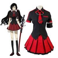Anime Blood C The Last Dark Kisaragi Saya Cosplay Costume Women Halloween Cosplay Costume School Uniform