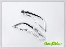 ABS Chrome Rear Fog Light Frame Cover Trim 2pcs/set For Honda CRV 2017 2018 auto accessories