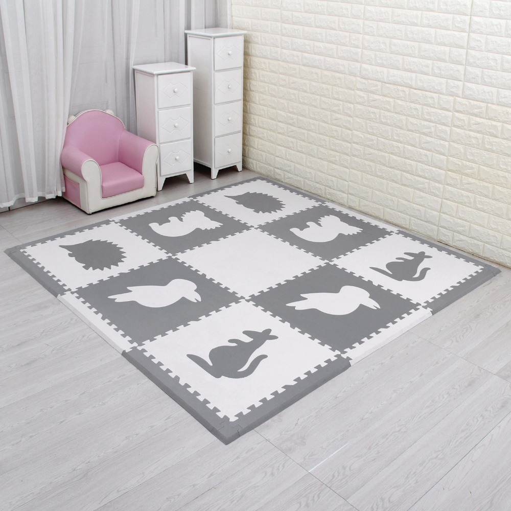 9pcs/lot meiqicool baby EVA Foam Play Puzzle Mat for kids/ Interlocking Exercise Tiles Floor Rug carpet ,Each 60x60cm thick 15 sand shell starfish pattern floor area rug
