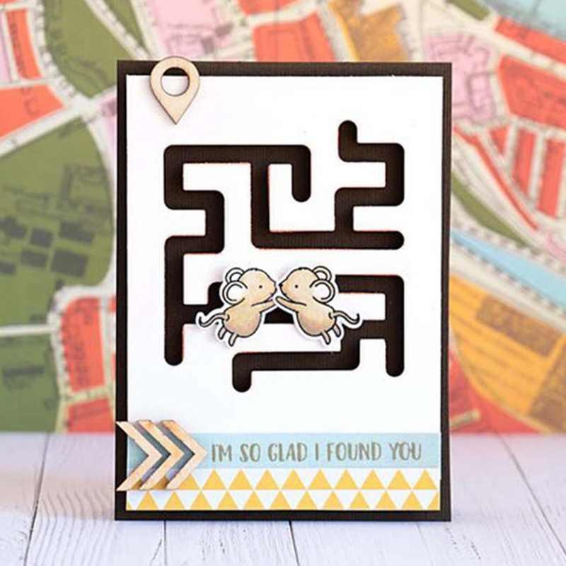 Coração bonito Labirinto Forma Embossing Morre Stencils Para Fazer Do Cartão De Corte De Metal Decorativo Terno Cartões de Papel Selo DIY Scrapbooking Die