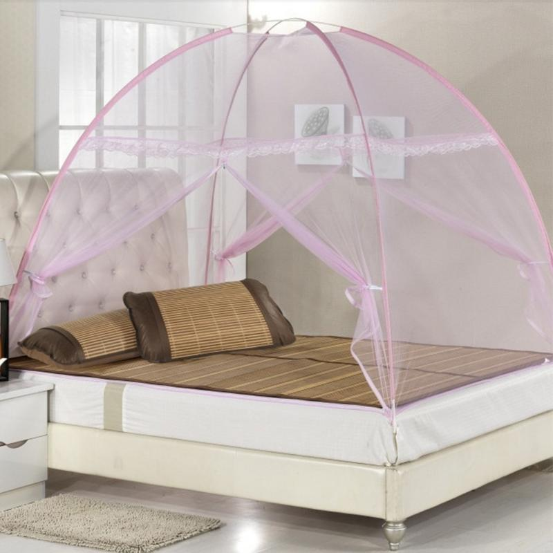 Lace Nets Folding Mosquito Net Tent Style Pop Up Canopy Curtains For Beds Home Bedroom Decor