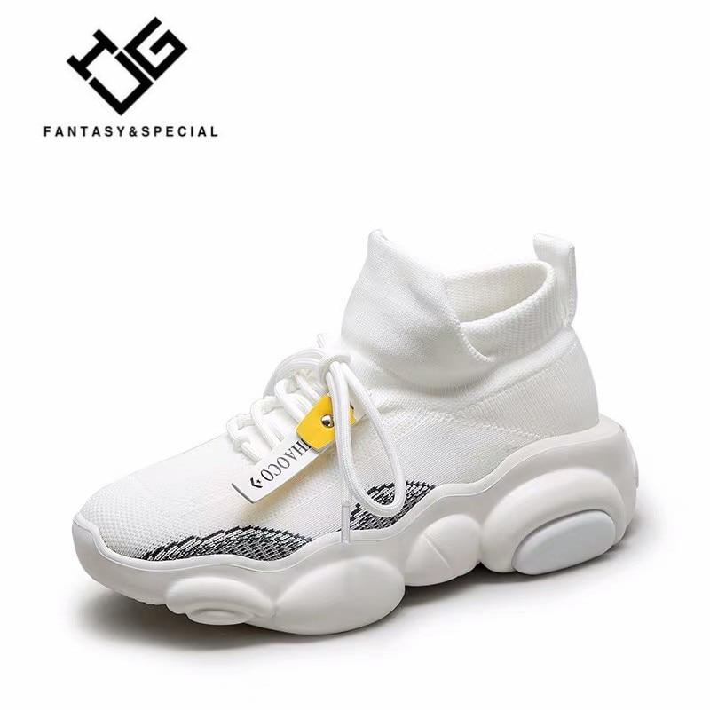 IGU Light haut de gamme nouvelles chaussettes volantes respirantes chaussures femmes Sport Stretch Sport baskets plates chaussures de plein air pour femmes Sneaker