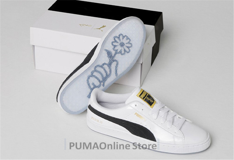 f2f8909ee69d PUMA X BTS Basket Patent Shoes Bangtanboys Collaborat Classic Sneaker  Unisex  Men s  Women s Sneaker Shoes Size35.5 44-in Badminton Shoes from  Sports ...